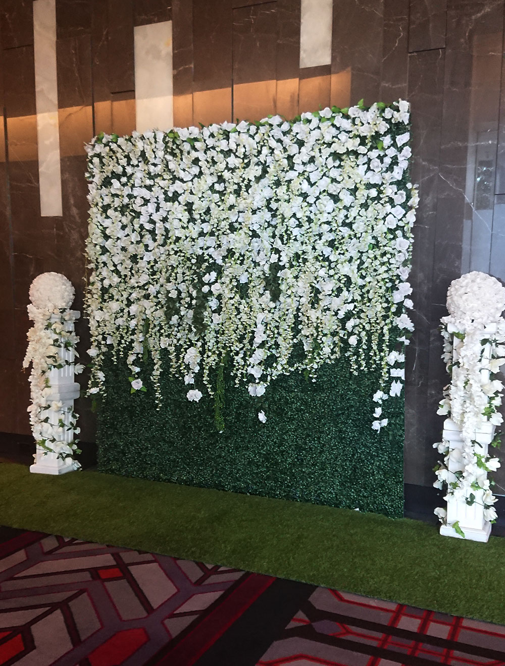 Combined Flowers And Greenery Walls For Hire Perth